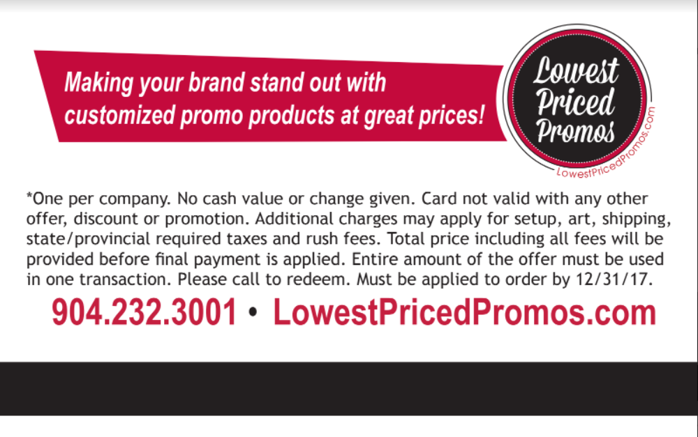 Lowest Priced Promos Gift Card 2